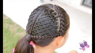 getlinkyoutube.com-Cola Panal de Abejas - Honeycomb Ponytail | Peinados con Trenzas | Peinados Elegantes