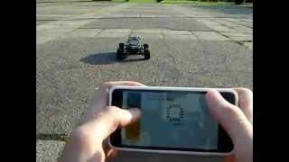 ESP8266 NodeMCU RC car control over WiFi using RoboRemo app