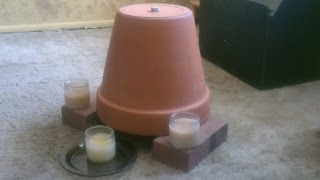 getlinkyoutube.com-Candle Powered Air Heater - DIY Radiant Space Heater - flower pot heater - Easy DIY
