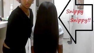 getlinkyoutube.com-Long Natural Boys Hair : Lil Man Gets A Hair Cut!!!