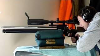 getlinkyoutube.com-Mac1 USFT Hunter PCP Air Rifle - Accuracy and Overview