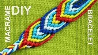 getlinkyoutube.com-How to Macrame Leaves - Friendship bracelet - nice on both sides.