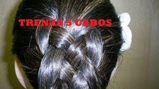 getlinkyoutube.com-TUTORIAL #2# TRENZA DE 5 CABOS