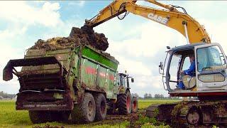 getlinkyoutube.com-Claas Arion 550 w/ Bergmann TSW 5210 S spreading manure - Veerman Goudswaard