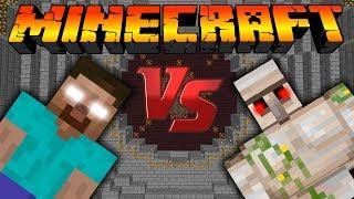 getlinkyoutube.com-Херобрин VS Железный голем:Битва мобов в Minecraft [Minecraft Mob Battle]