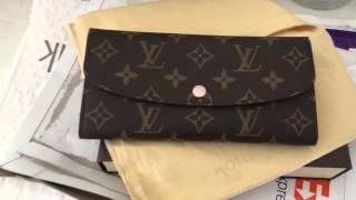 Louis Vuitton Emilie Wallet Unboxing 2016