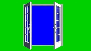 getlinkyoutube.com-door opens green screen 02