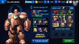 getlinkyoutube.com-Marvel Future Fight Gameplay - Clear new Secret Wars Villain Siege with 18 units & in 12 minutes