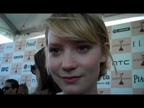 Mia Wasikowska at the 2011 Independent Spirit Awards