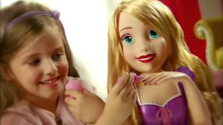 getlinkyoutube.com-IMC Toys - Disney Princess - Deluxe Rapunzel Styling Head