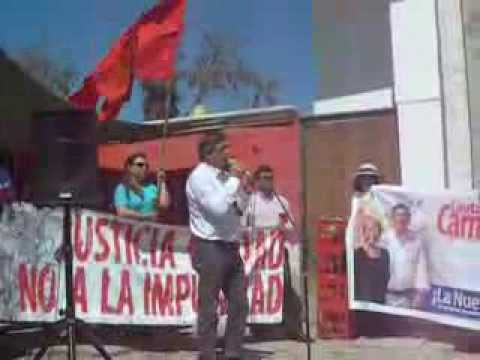 Discurso de diputado Lautaro Carmona en Memorial de ejecutados politicos de Atacama  8 septiembre 20