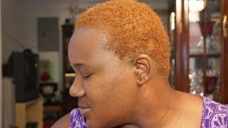 getlinkyoutube.com-Dying Natural Hair Blond NO BLEACH