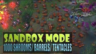 getlinkyoutube.com-1000 TEEMO SHROOMS - Practice Sandbox Mode Gameplay League of Legends (GP Barrels, Illaoi Tentacles)