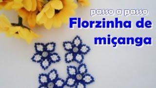 getlinkyoutube.com-NM Bijoux - Florzinha de miçanga - passo a passo