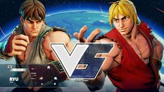 getlinkyoutube.com-Street Fighter V PC - ALPHA RYU vs ALPHA KEN + extra