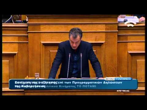 Θεοδωρακης Σταυρος ΤΟ ΠΟΤΑΜΙ-Δευτερολογια-προγραμματικες βουλη 10-2-2015-Τ-Σ-βουλης