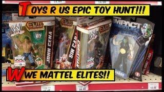 getlinkyoutube.com-WWE ACTION INSIDER: ToysRus wrestling figure toy run! Mattel Elites figures Jeff Hardy elite Basics