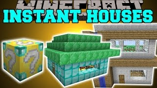 getlinkyoutube.com-Minecraft: INSTANT HOUSE MOD (CUSTOM HOUSES, TREE HOUSE, LIBRARY & MORE!) Mod Showcase