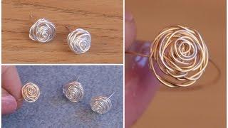 DIY: Make Silver Stud Earrings (Rose Jewellery) with Jessica Rose