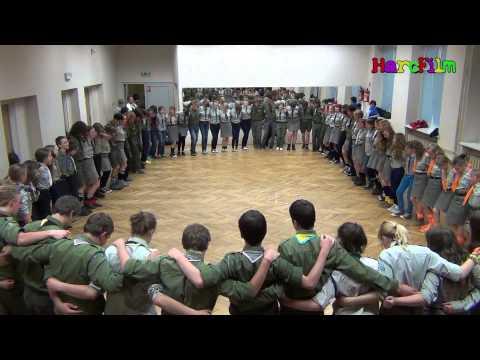Harcerska Pielgrzymka na Jasną Górę 17-19 maja 2013r.- pląsy, gry, zabawy integracyjne część 1