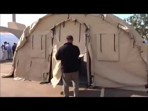 VID Mobilis Medical Expedition Shelter Errection   Oct 2012 Timelapse