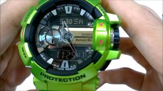 getlinkyoutube.com-Casio g-shock bluetooth (GBA-400-3BDR) unboxing