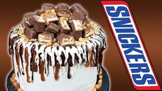 getlinkyoutube.com-Snickers Candy Bar Cake  from Cookies Cupcakes and Cardio