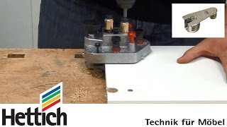 getlinkyoutube.com-Cabinet assembly with VB fittings and DrillJig VB from Hettich, based on existing System 32 holes