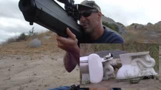 getlinkyoutube.com-Destroying a Toilet with the .357 cal Benjamin Bulldog