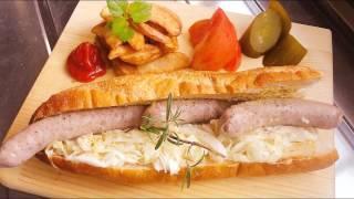 getlinkyoutube.com-大食い料理!巨大ホットドッグの作り方&本格ザワークラウトの作り方