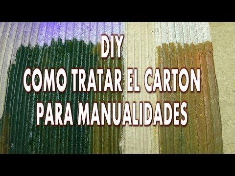 DIY RECICLANDO, COMO  PREPARAR CARTÓN PARA MANUALIDADES