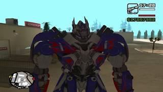 getlinkyoutube.com-GTA San Andreas - Optimus, Grimlock And Drift MOD (Transformers 4)