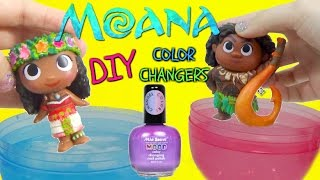 getlinkyoutube.com-DISNEY MOANA MOVIE 2016 Color Changing NAIL POLISH DIY Toys VAIANA