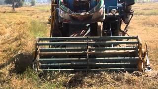 getlinkyoutube.com-รถเกี่ยวข้าวเกษตรพัฒนา รุ่นเงินมี โชว์ข้าวล้ม
