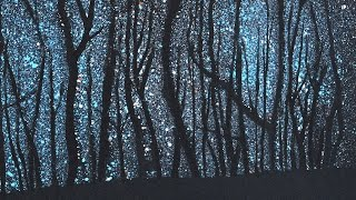 getlinkyoutube.com-How to Paint a Starry Night in the Woods - Stars - Very Easy