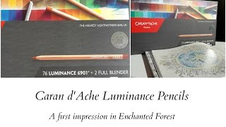 Caran d'Ache Luminance - A first impression in Enchanted Forest