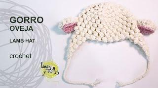 getlinkyoutube.com-Tutorial Gorro Bebé Crochet o Ganchillo Oveja