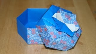 getlinkyoutube.com-Christmas Origami - Hexagonal gift box