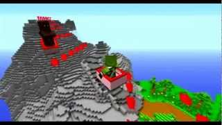 getlinkyoutube.com-Mario Kart in Minecraft Map #3 Mario Kart Double Dash - Donkey Kong Mountain