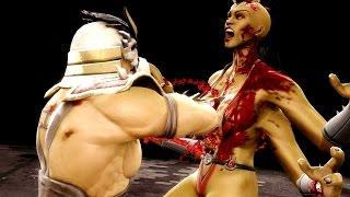 getlinkyoutube.com-Mortal Kombat 9 - Shao Kahn Double Down Fatality on all Characters 4K 60FPS Fatalities Mods Ultra HD