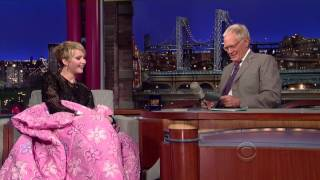 getlinkyoutube.com-Funny Jennifer Lawrence on Letterman Asks For A Blanket & Shows Brother Hunger Games