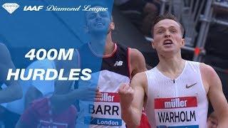 Karsten Warholm 47.65 Wins Men's 400m Hurdles - IAAF Diamond League London 2018