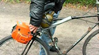 Велосипед с бензопилой (Bicycle with a chainsaw)