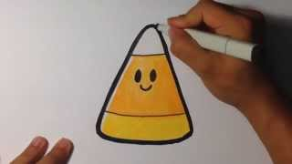 getlinkyoutube.com-How to Draw Cute Candy Corn - Halloween Drawings