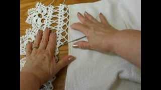 getlinkyoutube.com-Orilla # 1 como tejerla a la tela