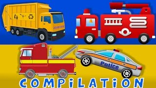 getlinkyoutube.com-Cars | Fire truck | Tow Truck | Heavy Vehicle | Compilation