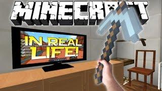 getlinkyoutube.com-Realistic Minecraft | MINECRAFT IN REAL LIFE MOD!