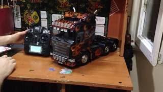 getlinkyoutube.com-Tamiya Scania R620+MFC01+Turnigy 9x