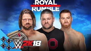 Royal Rumble 2018: AJ Styles vs. Kevin Owens & Sami Zayn - WWE Title Match - WWE 2K18 Match Sims