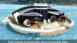 getlinkyoutube.com-Solar Floating Island concept by MPD Designs